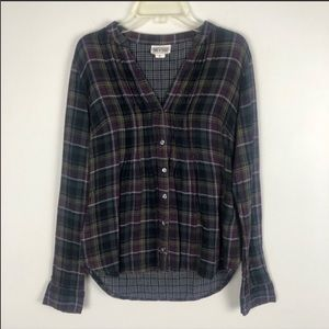 Converse One Star Plaid Flannel Top